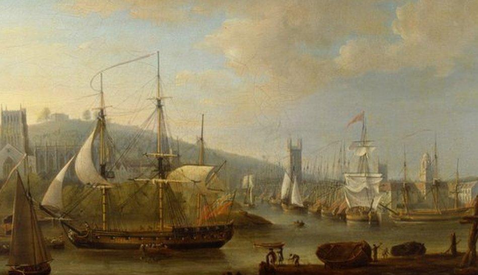View of Bristol port