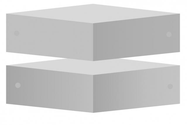 Ejemplo de cubos y círculos iluminados.