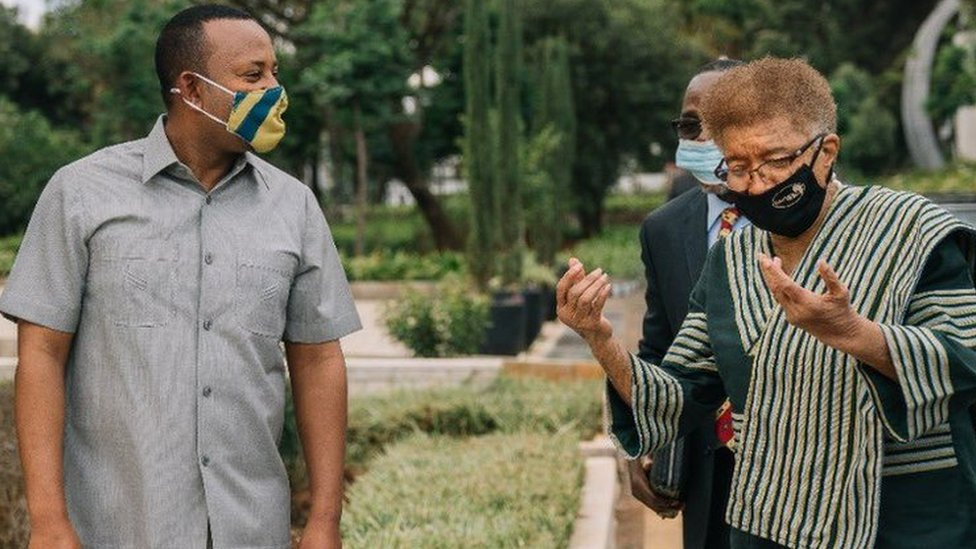 PM Abiy Ahmed and Ellen Johnson Sirleaf