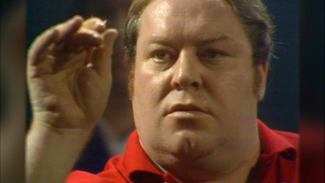 Leighton Rees in the 1978 World Darts Championship Final
