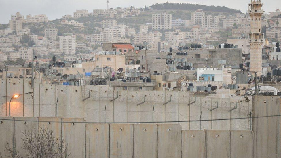 Israeli West Bank barrier in Bethlehem. Tuesday, 13 March 2018, in Bethlehem, Palestine