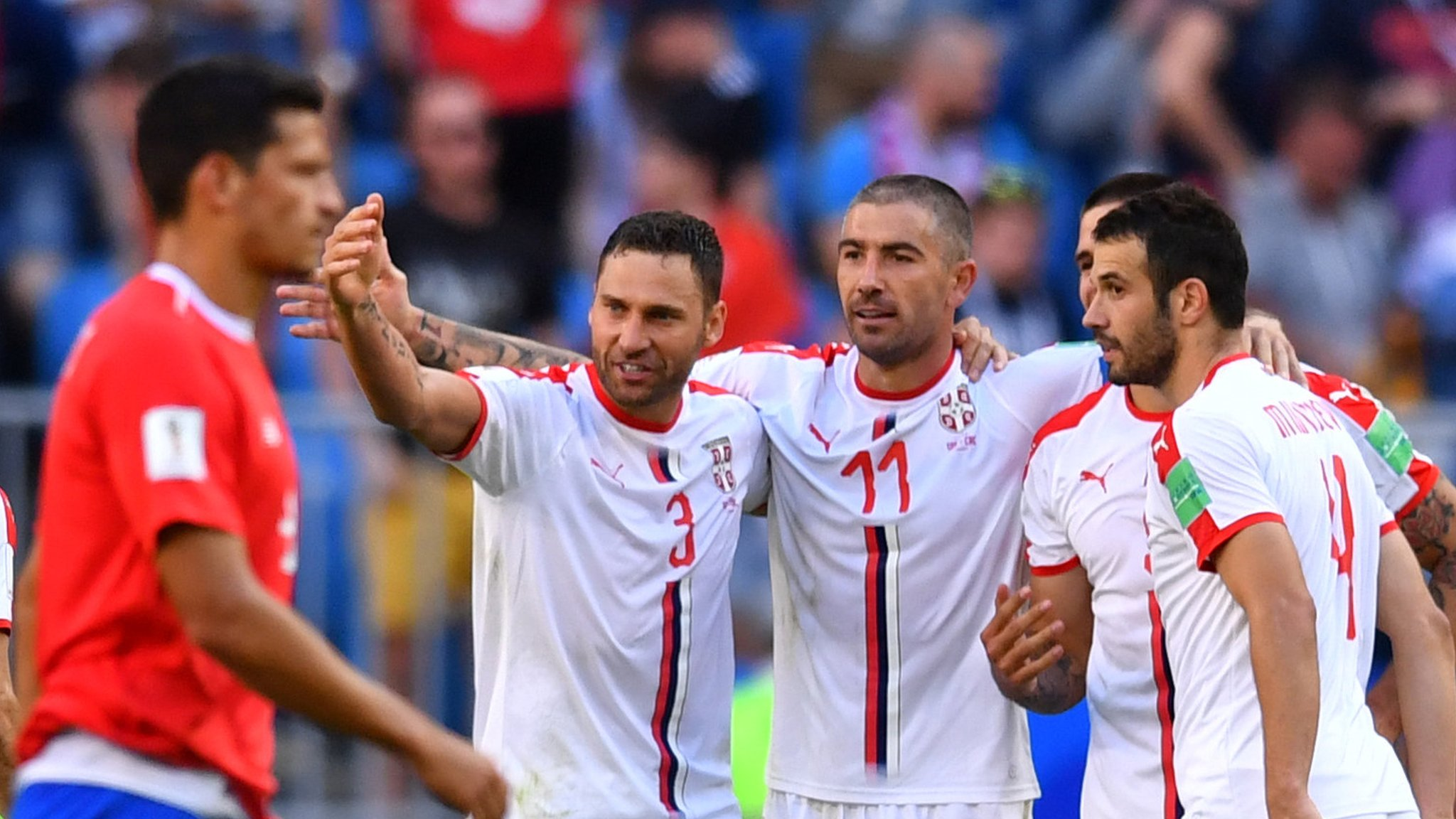 Kolarov's stunning free-kick gives Serbia victory over Costa Rica