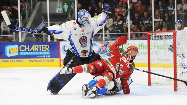 Cardiff Devils v Coventry Blaze in the Elite League at Ice Arena Wales on 8th October 2016
