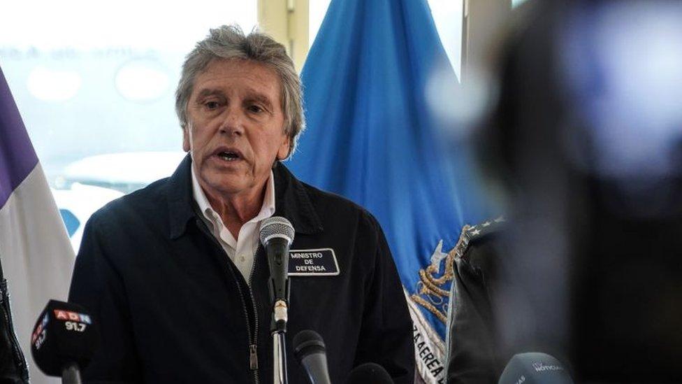 Ministro de Defensa de Chile, Alberto Espina.