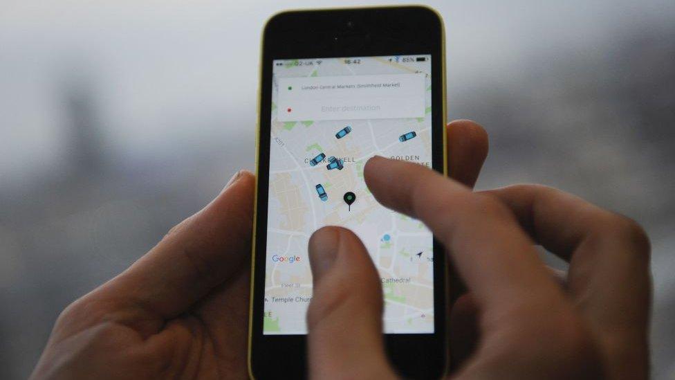 uber app on iPhone