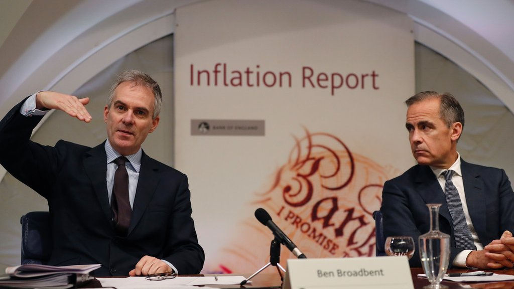 Ben Broadbent pictured with Bank of England governor Mark Carney