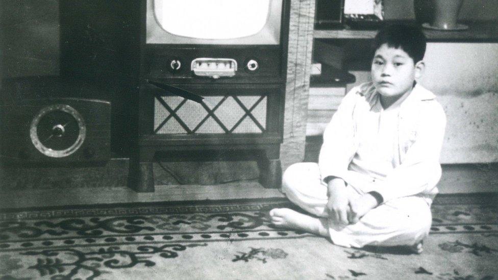 李健熙兒時照片(三星集團2020年10月25日發放照片)