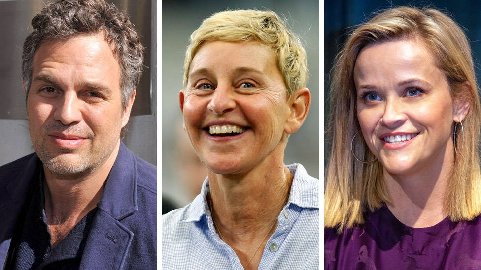 Mark Ruffalo, Ellen DeGeneres and Reese Witherspoon