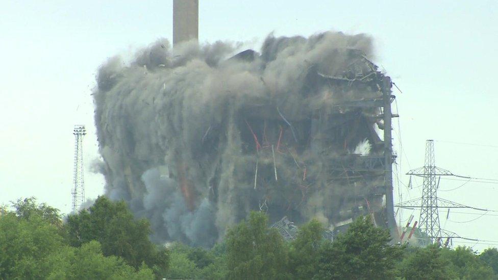 Didcot Power Station demolition