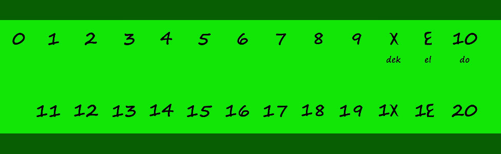 Números del sistema docenal