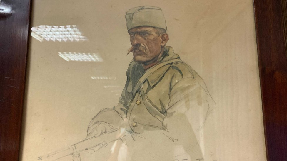 U kući je čuvao portret srpskog vojnika