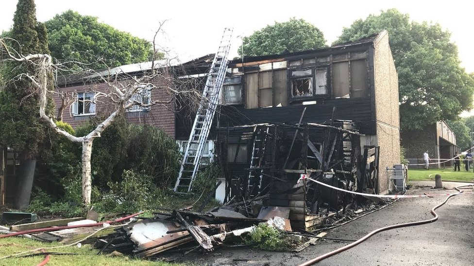 Andover house destroyed after fire in garden