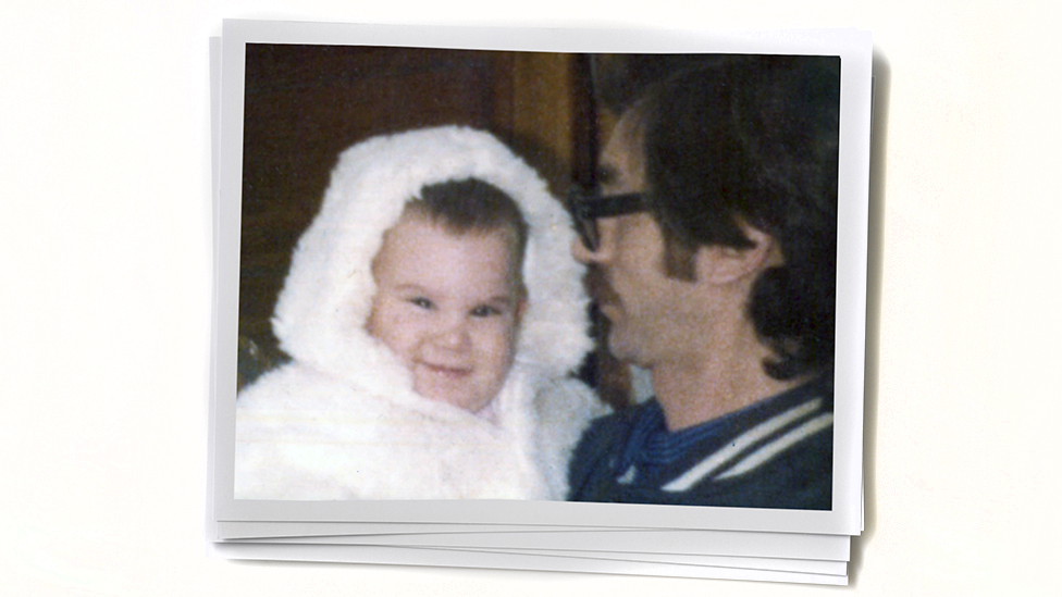 Paula as a baby and her father. Photo courtesy Paula L.