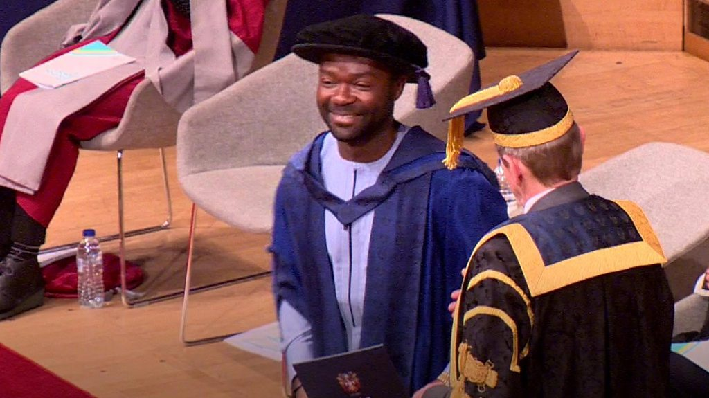 David Oyelowo: Hollywood star receives honorary doctorate