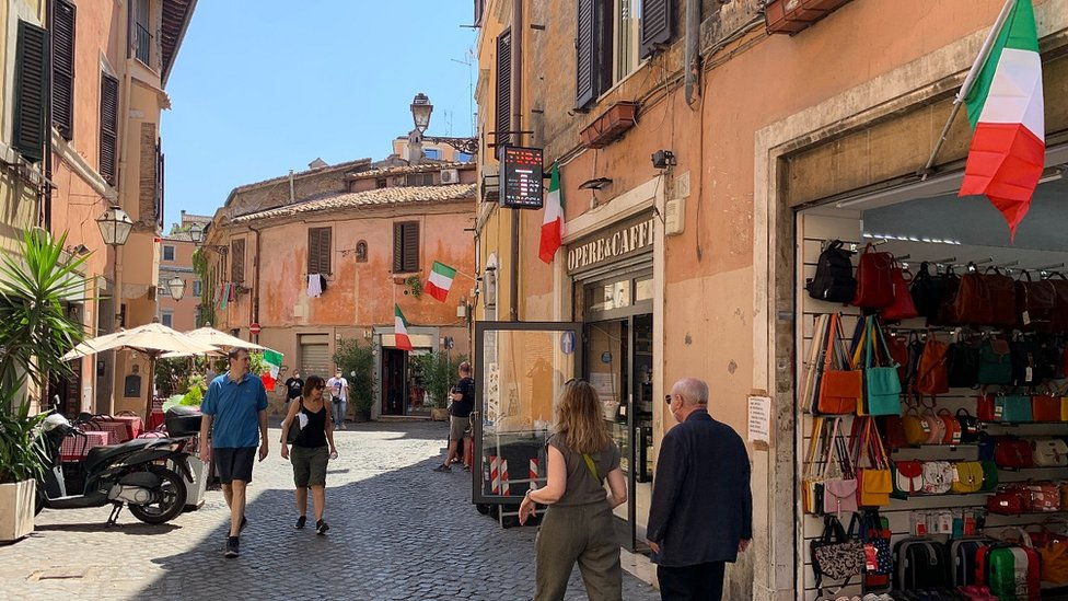 Flags out in Italy for the Euro 2020 final