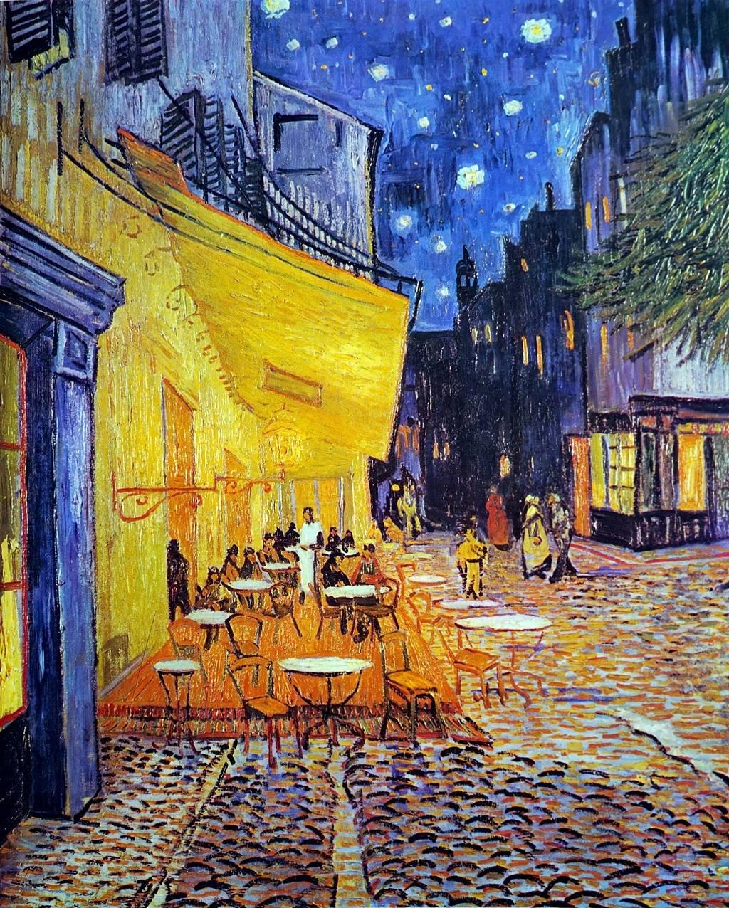 Terraza del café por la noche. Vincent van Gogh 1888.
