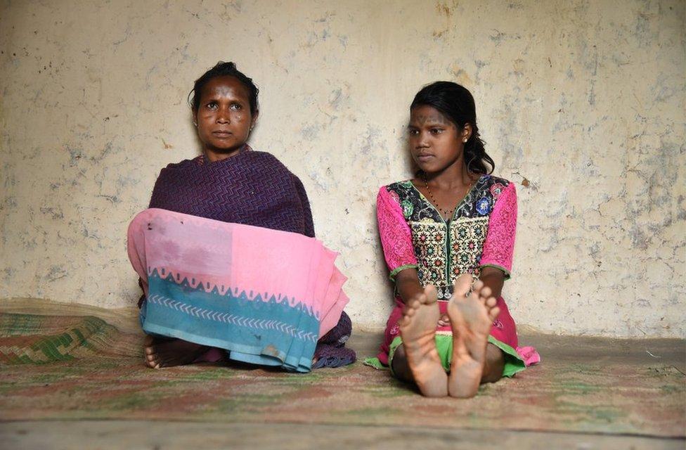 Badri Bai with her 15-year-old daughter Anita