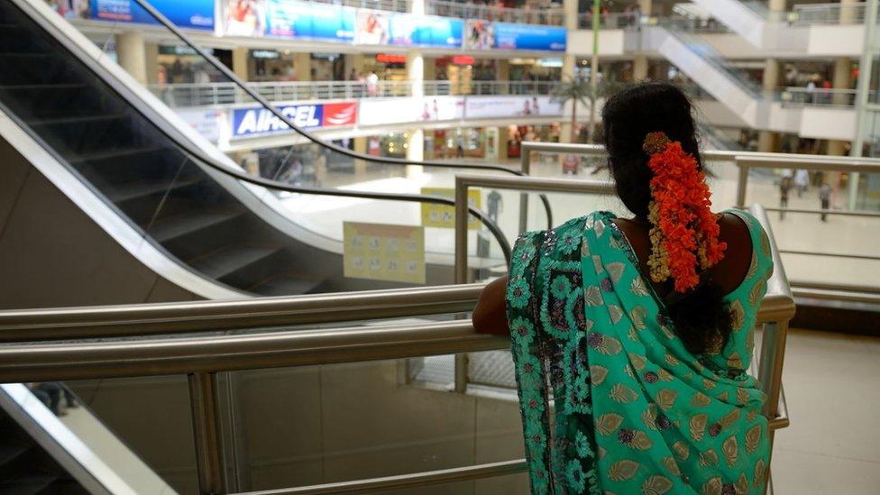 Mujer en India
