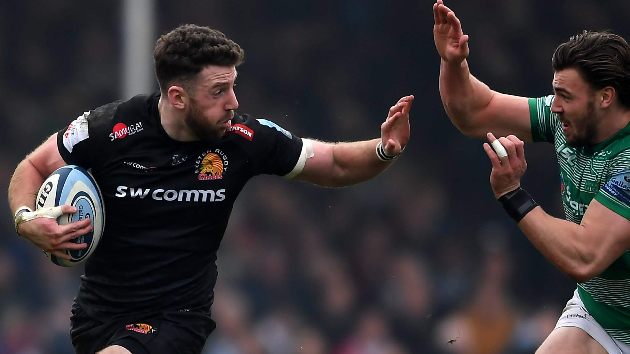 Exeter beat struggling Newcastle to return to top of Premiership