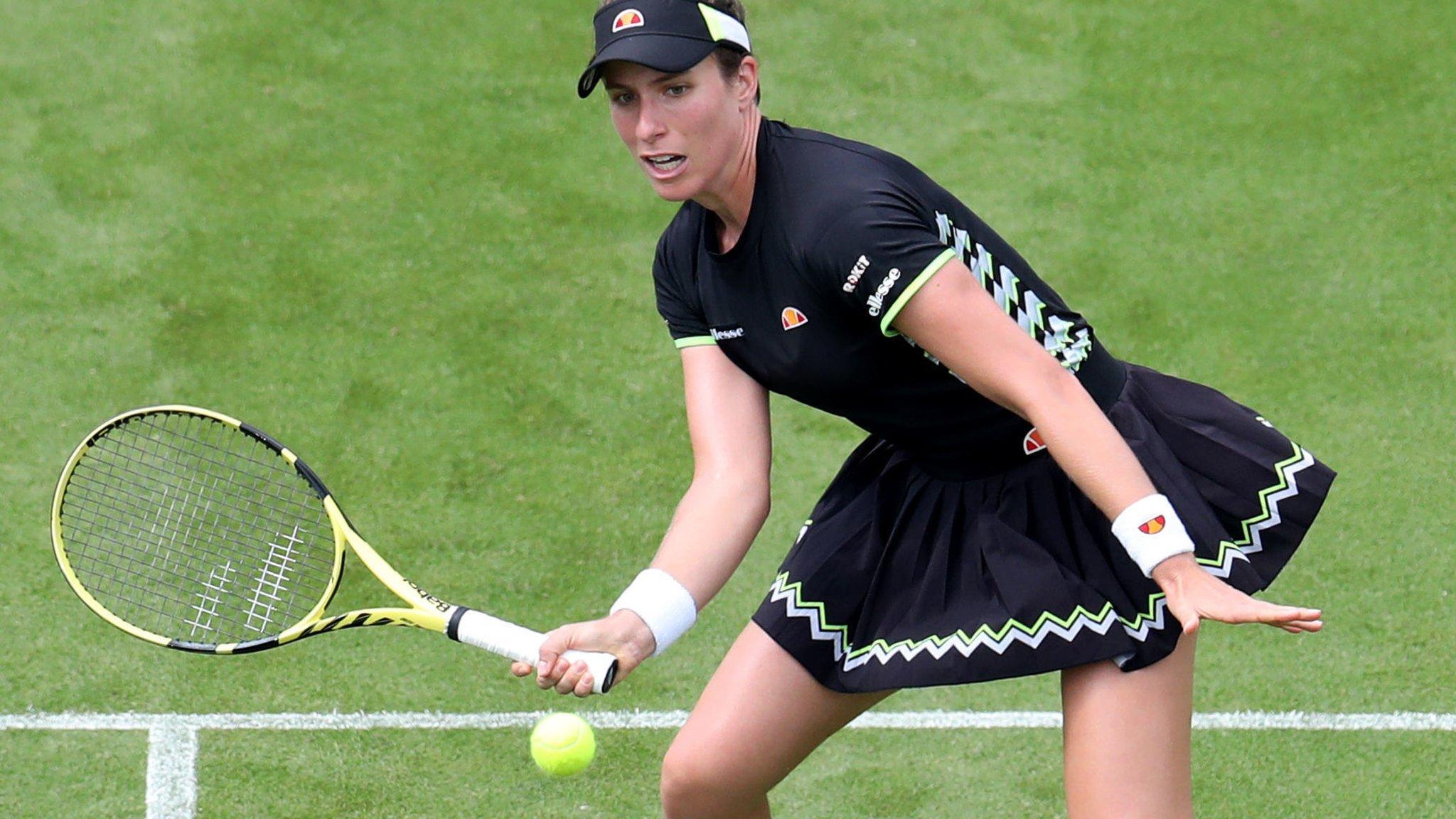 Johanna Konta beats Maria Sakkari to reach Eastbourne third round