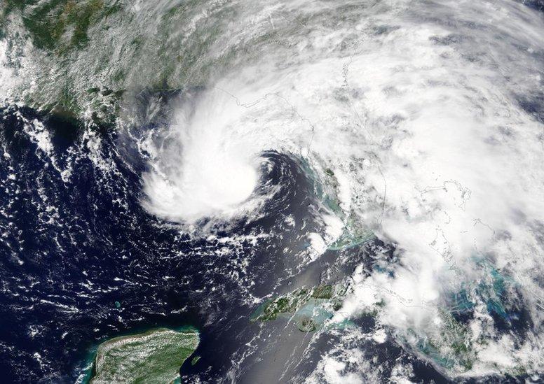 La tormenta Alberto