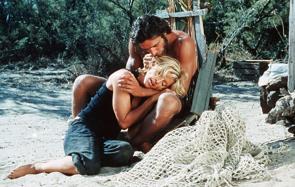 A still from the film Swept Away