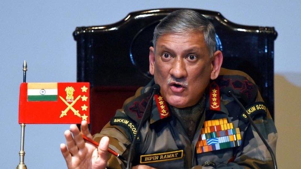 File photof Indian army chief General Bipin Rawat