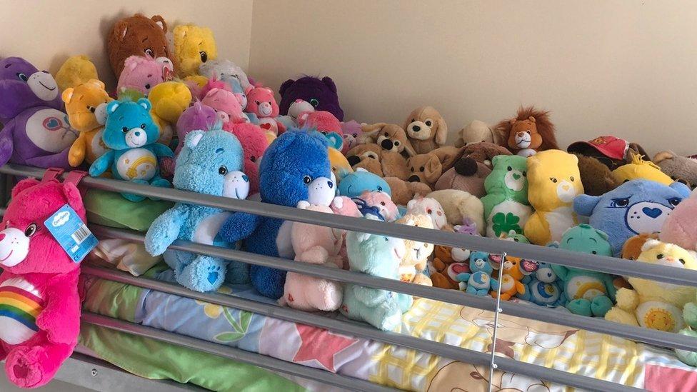 Jennifer Hawkins' collection of Care Bears