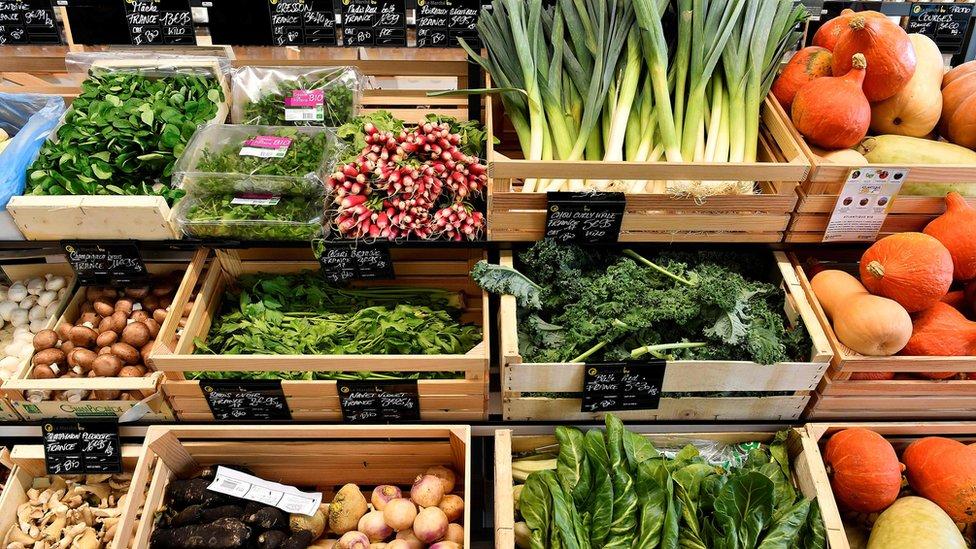 Un mercado orgánico en Francia.