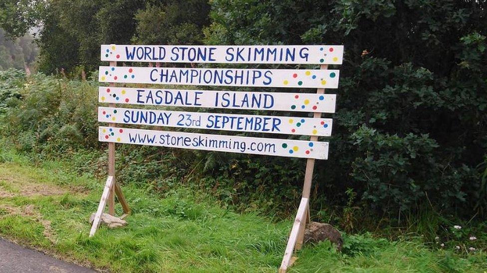 World stone skimming champions crowned on Scots isle