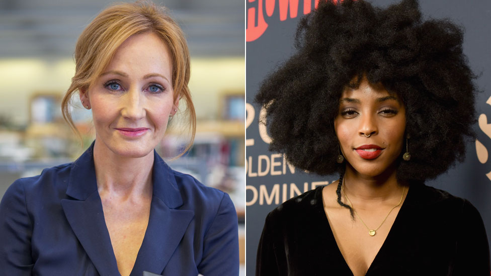 JK Rowling and Jessica Williams