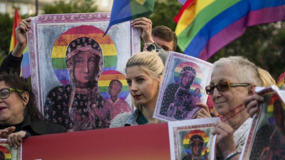 protest lgbt ikona poljska