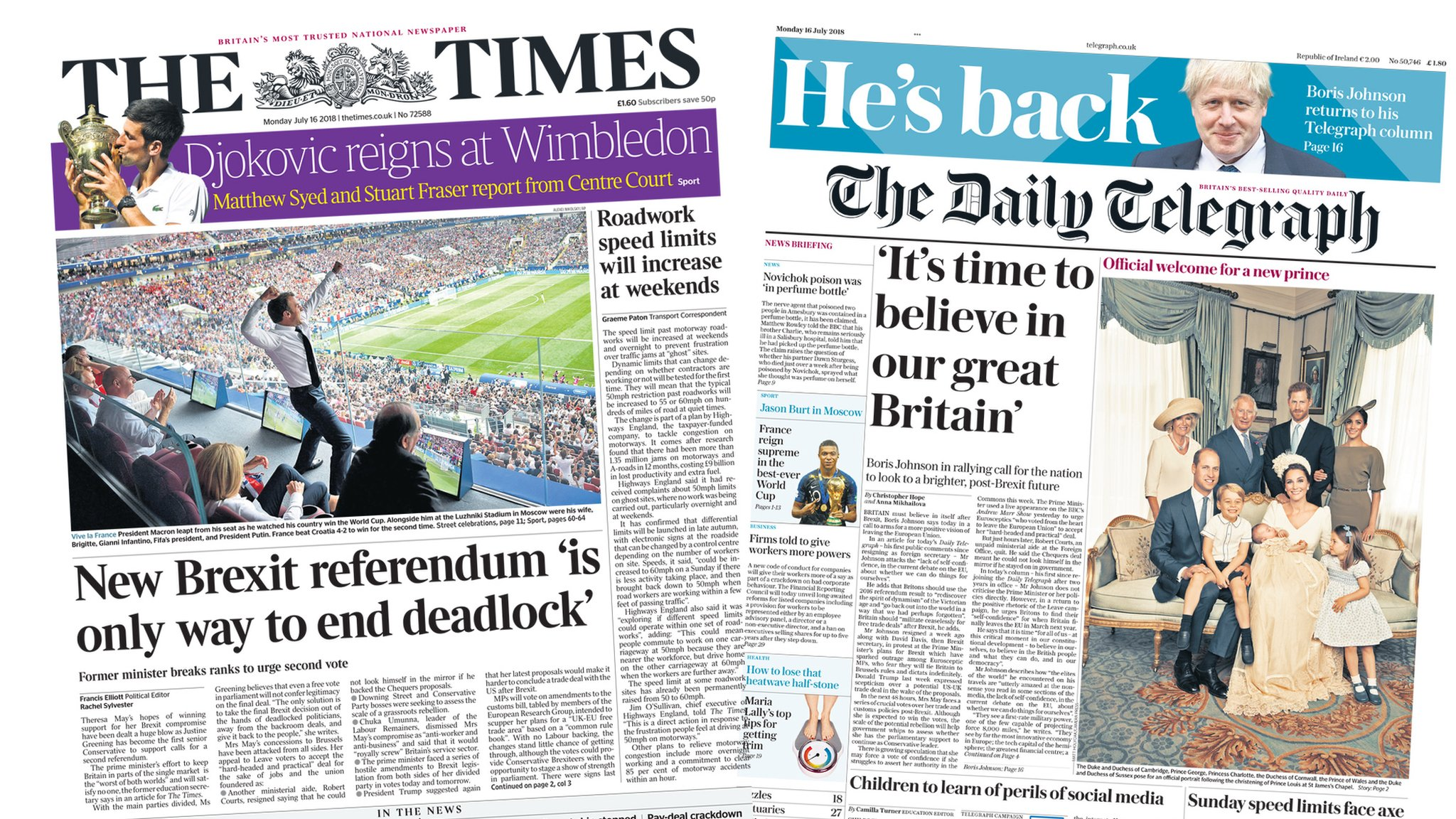 Newspaper headlines: 'Second Brexit referendum needed'