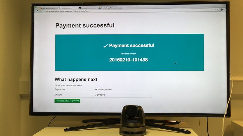 "Screen says ""Payment successful"""