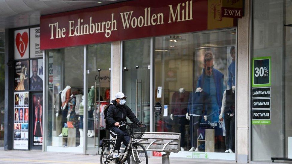 Edinburgh Woollen Mill shopfront