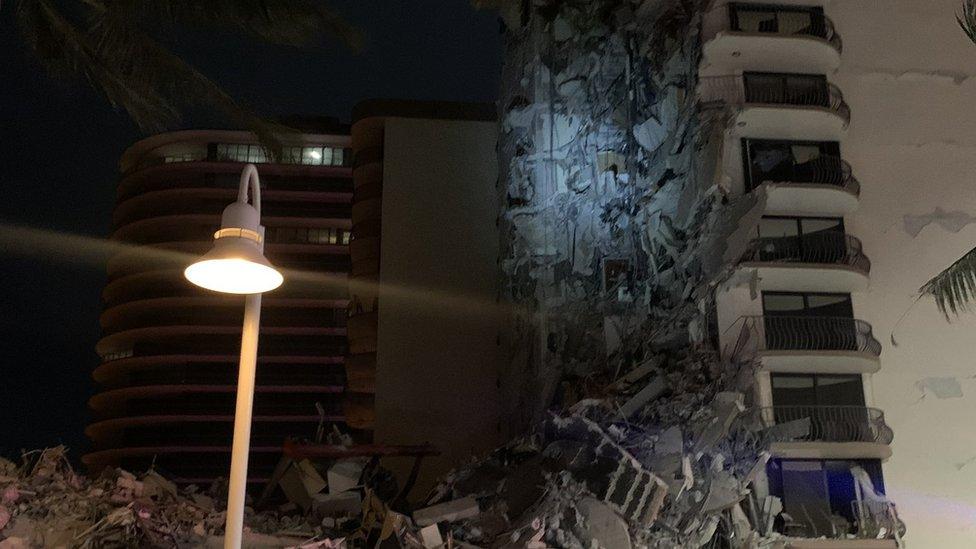 Edificio caído en Miami.