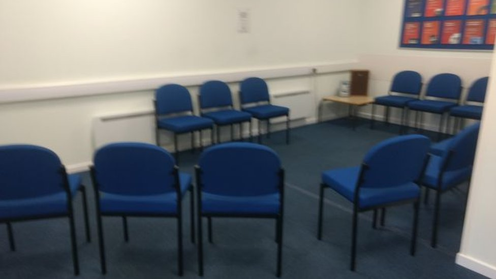 Bodmin test centre waiting room