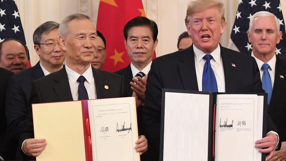 中美簽署第一階段貿易協議