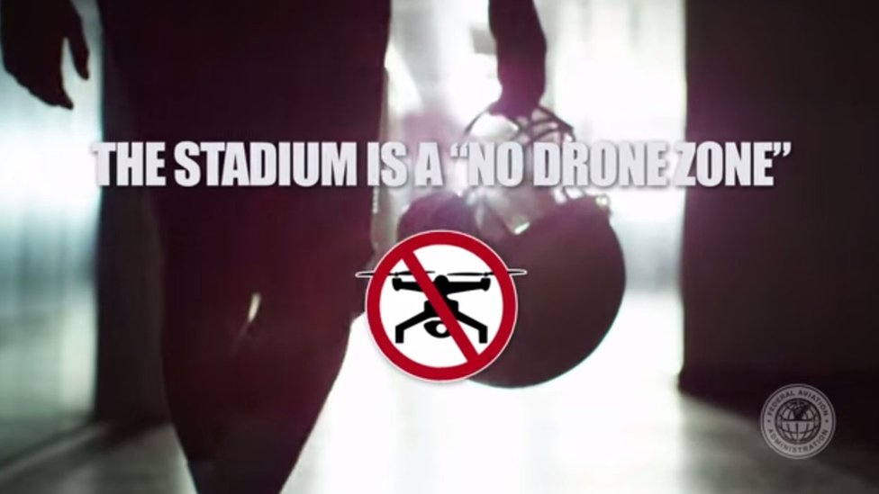 The FAA's video warns sports fans to leave their drones at home