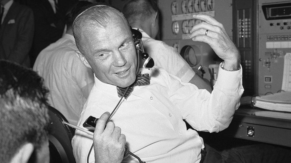 John Glenn at Nasa in 1963