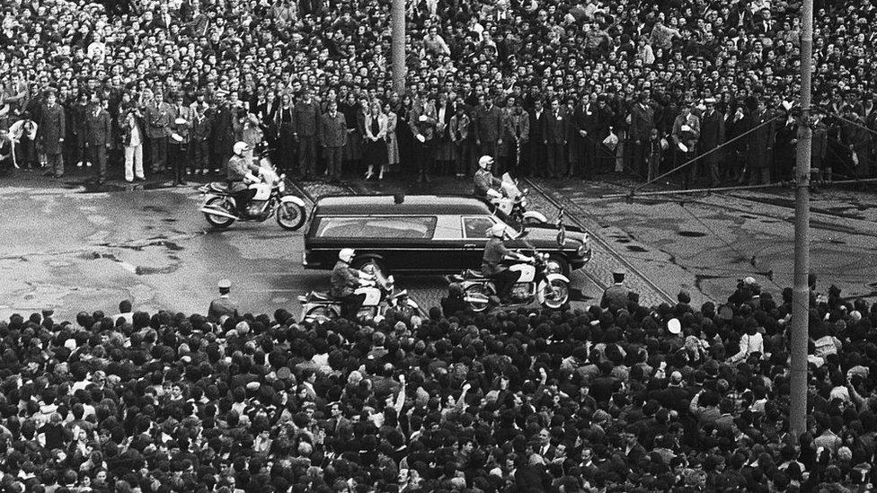 Funerales muerte de Josip Broz Tito.