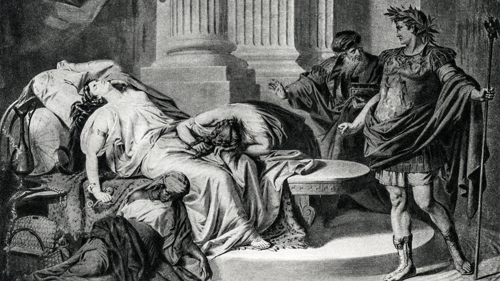Cleopatra se quitó la vida para evitar ser usada como trofeo de victoria por Augusto.
