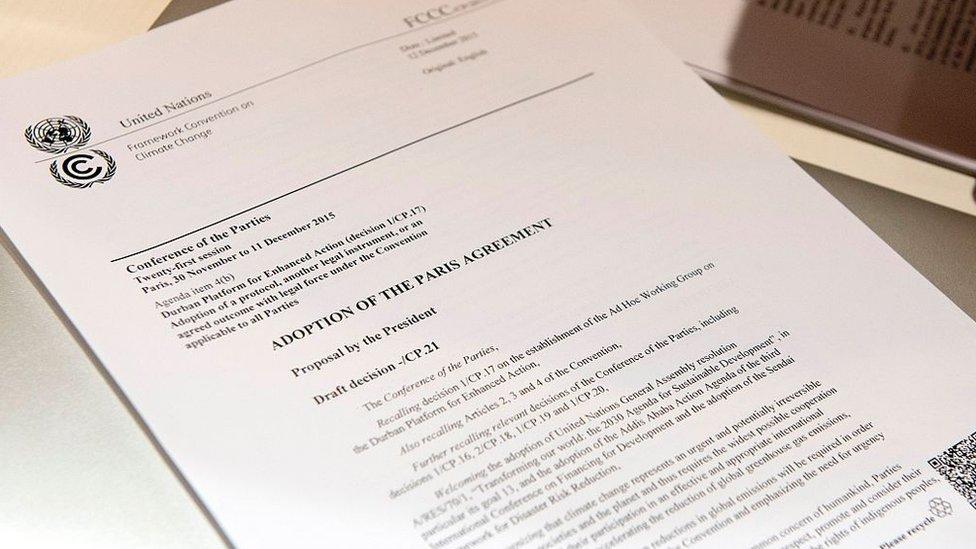 Paris İklim Anlaşması için 2015'te COP21 zirvesinde uzlaşma sağlandı.