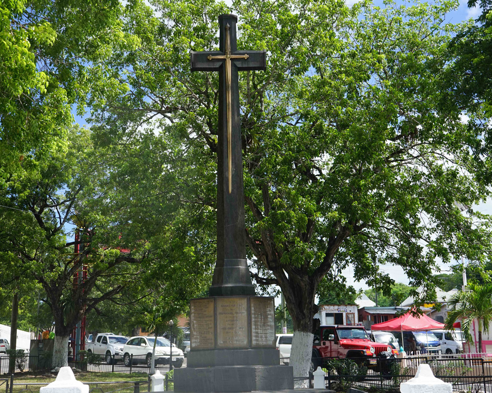 A view of the national war memorial in Antigua