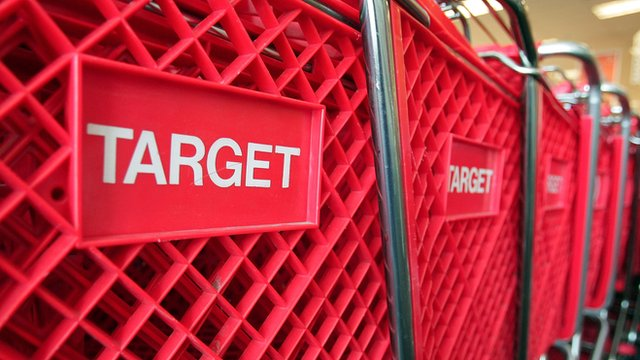 Shopping trolleys at Target