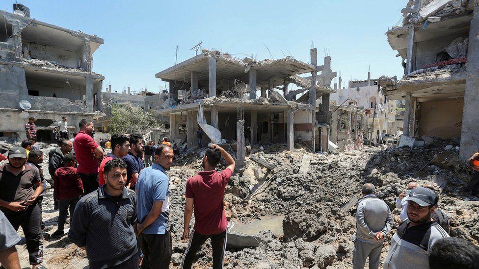 منازل في غزة