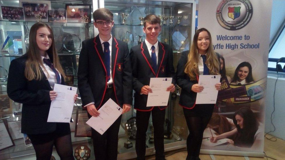 Scottish pupils receive exam results