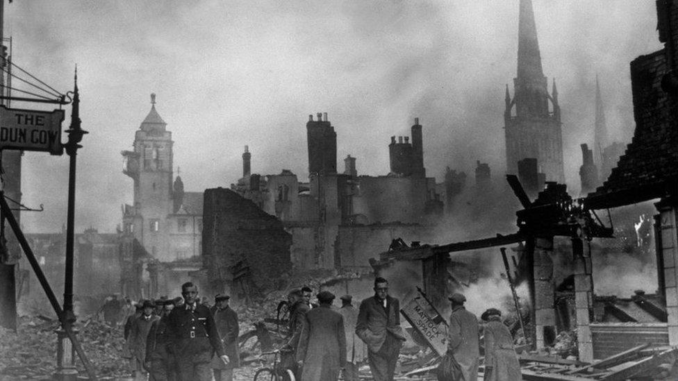 A bombed street