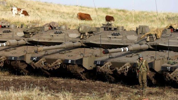 Dataran Tinggi Golan yang dianeksasi Israel.