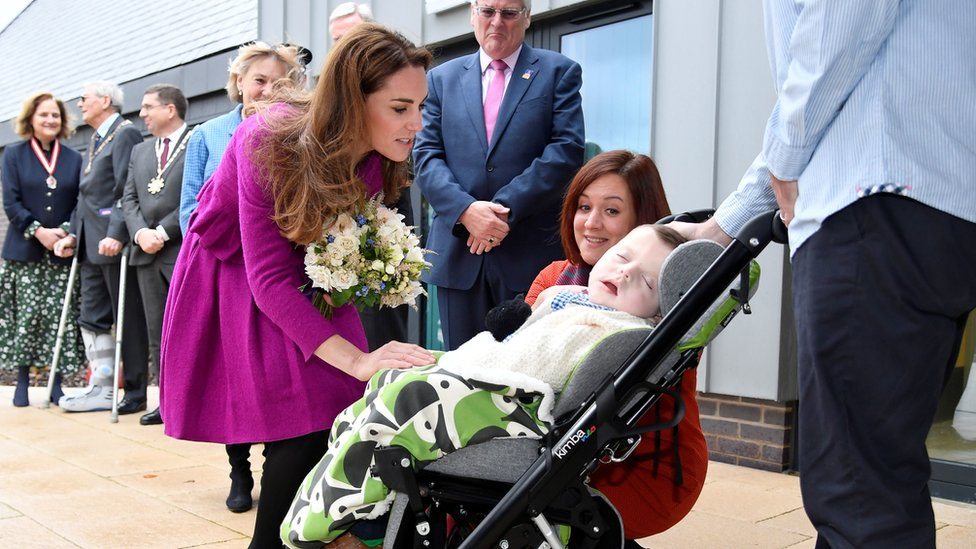 The Duchess of Cambridge at The Nook Children Hospice in Norfolk.